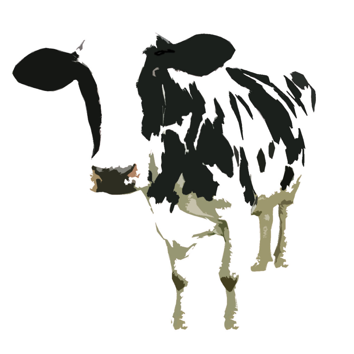 cow screen print by stender stender